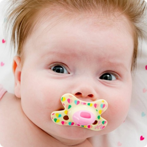 Difrax Soother 0-6mths Natural Sweetheart