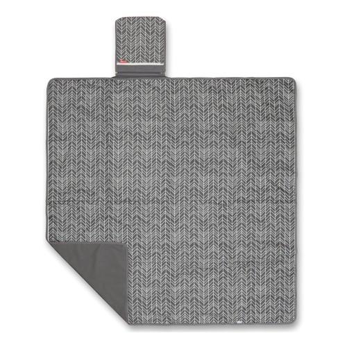 Skip Hop Central Park Outdoor Blanket & Cooler Bag Gray Feather