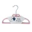 Living Textiles 6pk Baby Coat Hangers Pink Bow