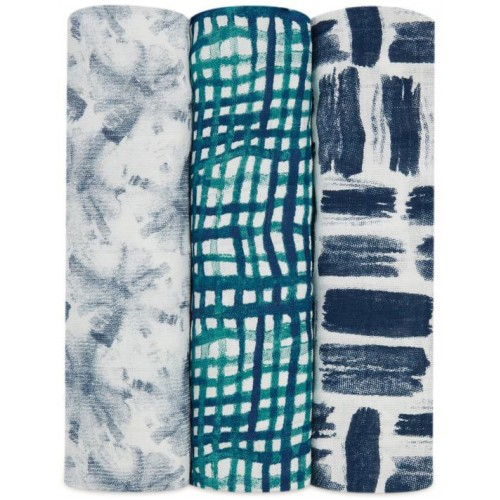 Aden Anais Muslin Swaddles 3 Pack Seaport