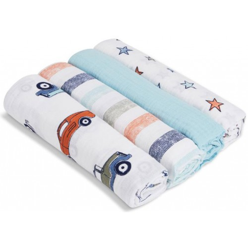 Aden Anais Muslin Swaddles 4 Pack Hit The Road