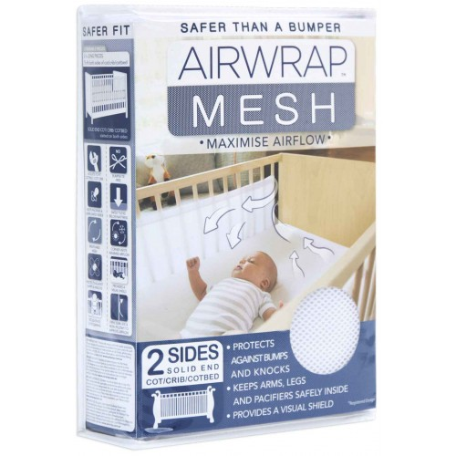 Airwrap Mesh White 2 Sided Cot