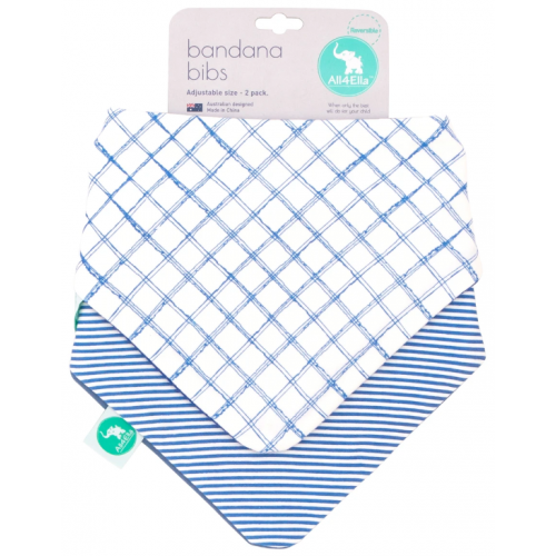 All4Ella Bandana Reversible Bib Checkered