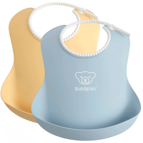 Baby Bjorn Soft Bib 2pk Powder Yellow Blue