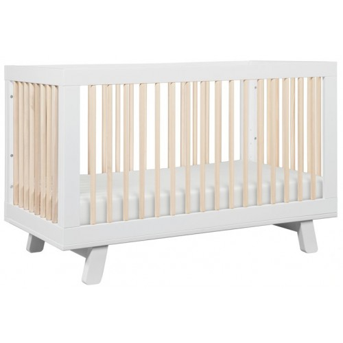 Babyletto Hudson Cot White and Washed Natural