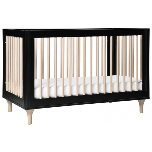 Babyletto Lolly Cot Black and Washed Natural