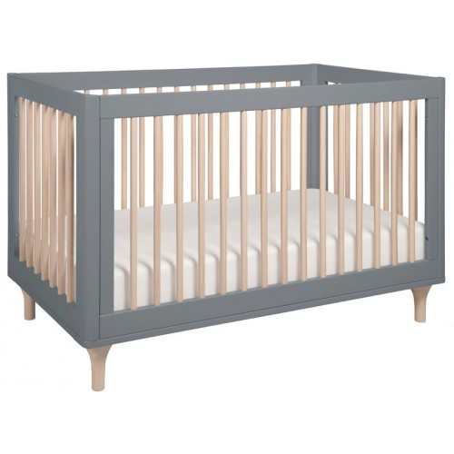 Babyletto Lolly Cot Grey and Washed Natural