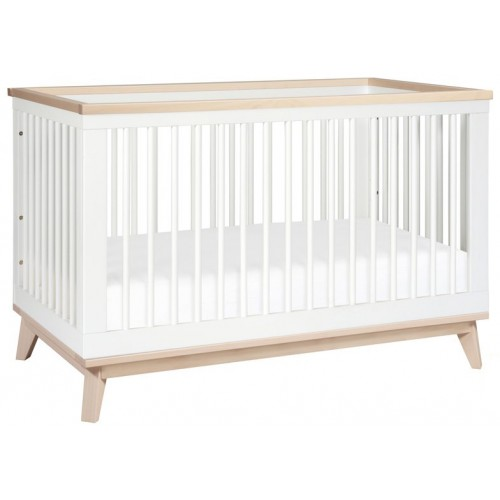 Babyletto Scoot Cot White Washed Natural