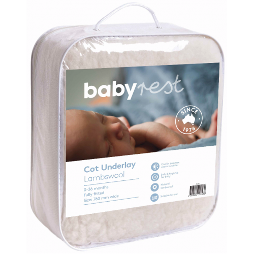 Babyrest Lambs Wool Underlay Large Cot