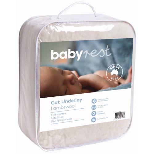 Babyrest Lambs Wool Underlay Standard Cot