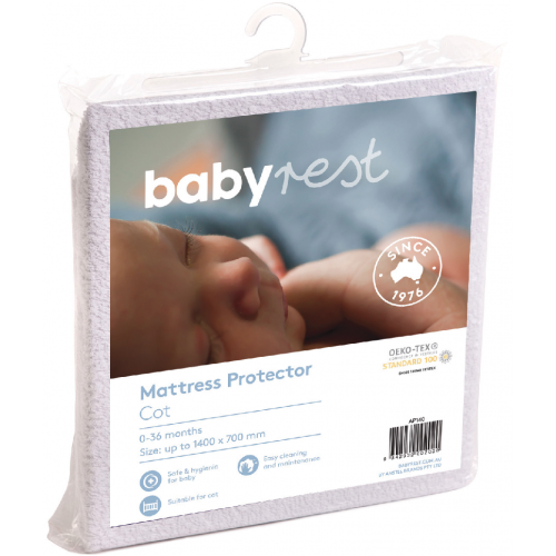 Babyrest Waterproof Large Cot Mattress Protector
