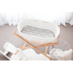 Bambella Bassinet Mattress Protector Grey Arrows