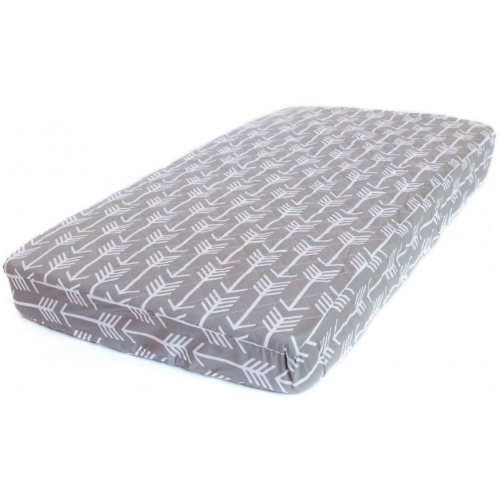 Bambella Cot Mattress Protector Grey Arrows