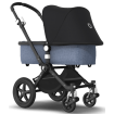 Bugaboo Cameleon3 Plus Black Frame Blue Melange Base