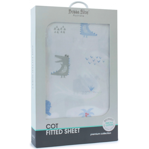 Bubba Blue Cot Fitted Sheet Rhino Run