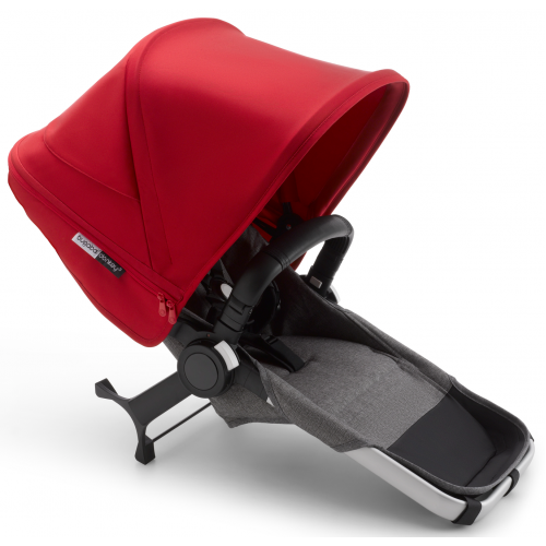 Bugaboo Donkey 3 Duo Extension Aluminium Grey Red