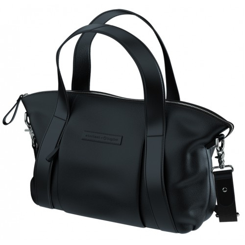 Bugaboo Storksak Leather Bag Black