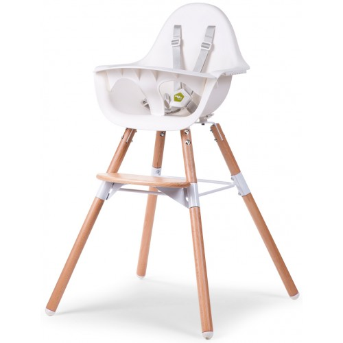 Childhome Evolu2 High Chair Natural White