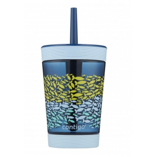 Contigo Spill Proof Kids Tumbler School Fish