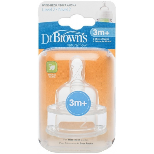 Dr Browns Wide Neck Bottle Teats Level 2