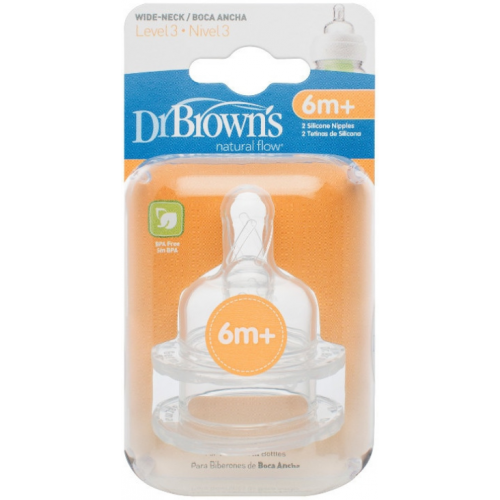 Dr Browns Wide Neck Bottle Teats Level 3