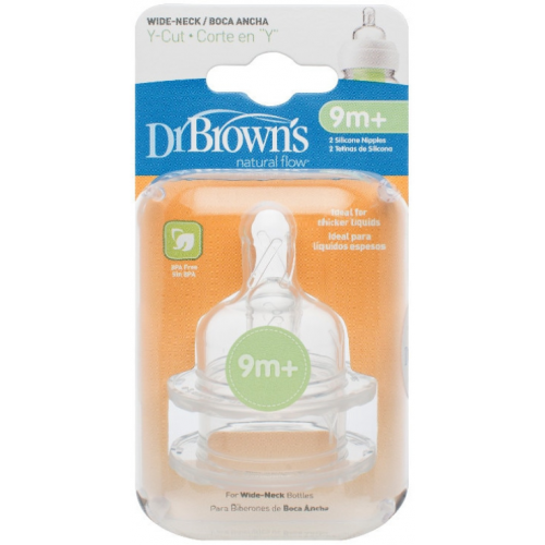 Dr Browns Wide Neck Bottle Teats Y Cut
