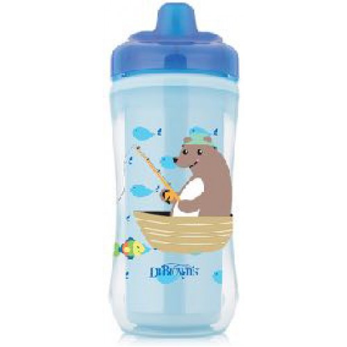 Dr Browns Hard Spout Insulated Cup Blue Bear