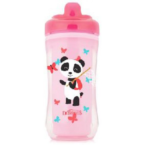 Dr Browns Hard Spout Insulated Cup Pink Panda