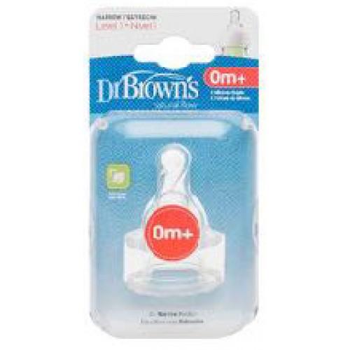 Dr Browns Narrow Bottle Teats Level 1