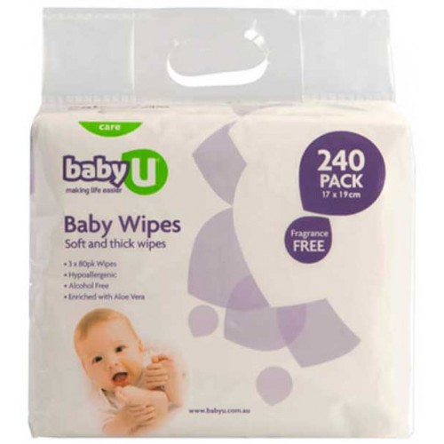 Baby U Baby Wipes 240pk