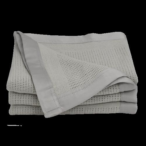 Living Textiles Bassinet/Cradle Cellular Blanket Grey