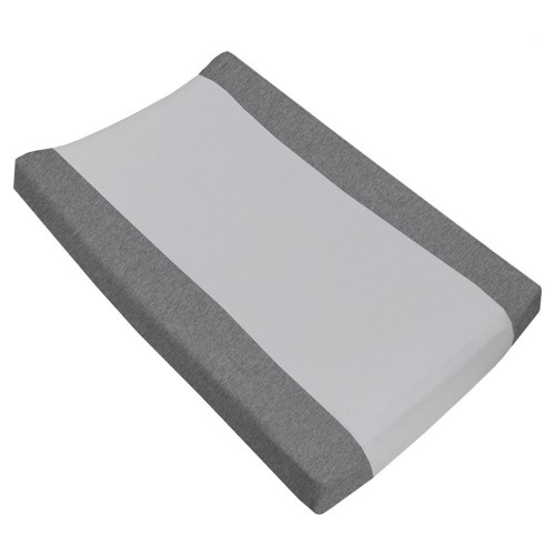Living Textiles Jersey Change Pad Cover Grey Melange Towelling
