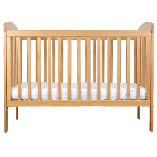 Grotime Pearl Cot and Mattress Honey Elm