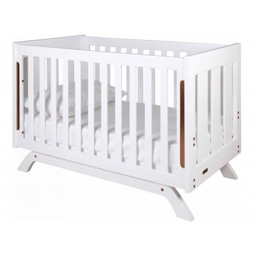 Grotime Retro Cot and Mattress White