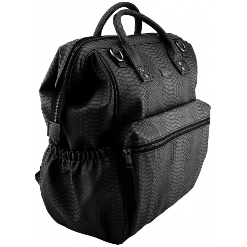 Isoki Byron Nappy Backpack Black Mumba