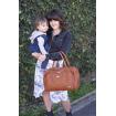 Isoki Double Zip Satchel Nappy Bag Amber