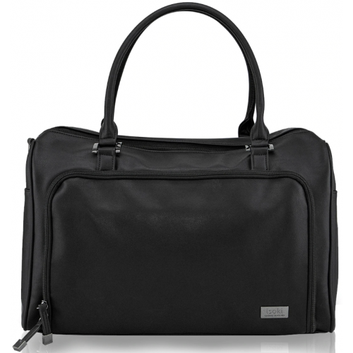 Isoki Double Zip Satchel Nappy Bag Onyx