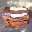 Isoki Double Zip Satchel Nappy Bag Redwood