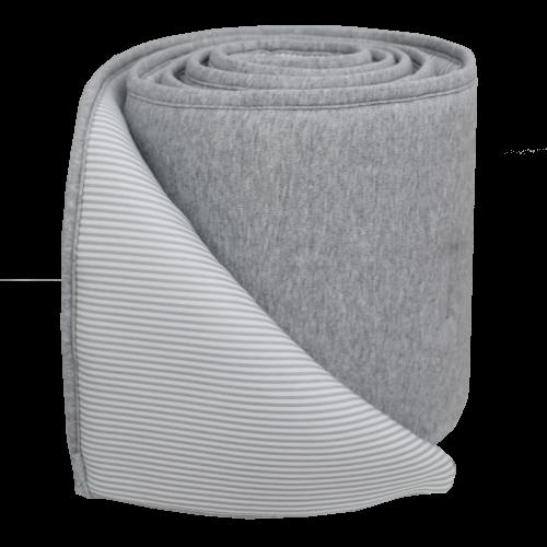Living Textiles 2pce Jersey Bumper Set Grey