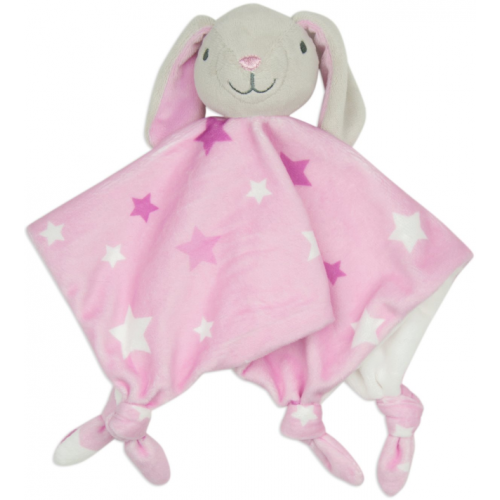Little Linen Comforter Bunny Pink