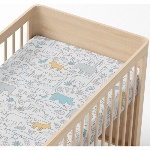 Lolli Living Cot Fitted Sheet Urban Safari