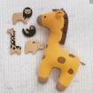 Lolli Living Cotton Knit Cushion Giraffe