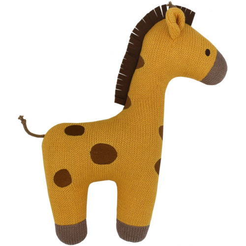 Lolli Living Cotton Knit Cushion Giraffe
