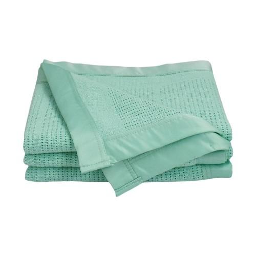 Living Textiles Bassinet/Cradle Cellular Blanket Mint