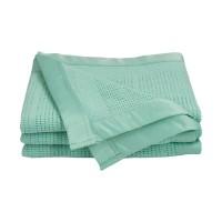 Living Textiles Essentials Cot Cellular Blanket Mint
