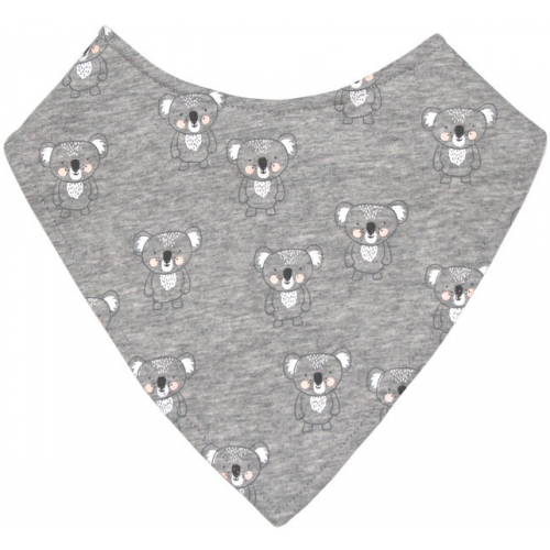 Mister Fly Dribble Bib Grey Koala
