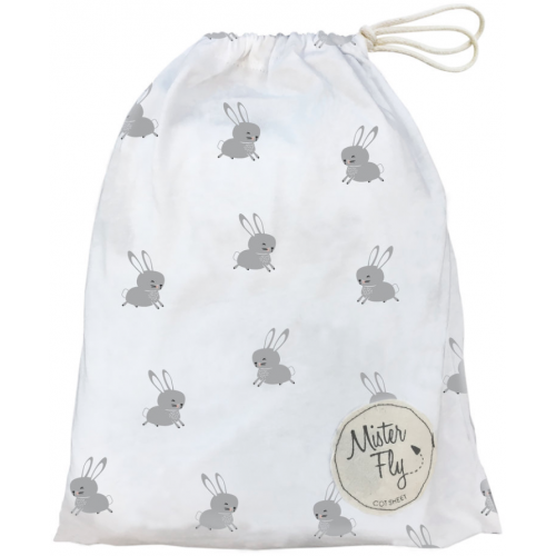 Mister Fly Jersey Cot Sheets Floating Bunny