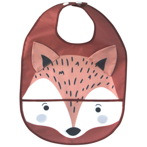 Mister Fly Wipeable Bib Fox
