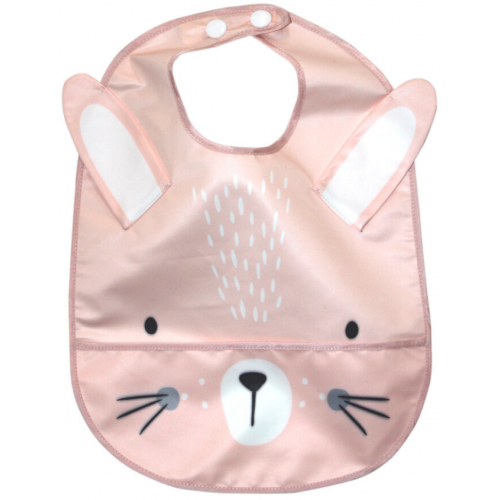 Mister Fly Wipeable Bib Pink Bunny