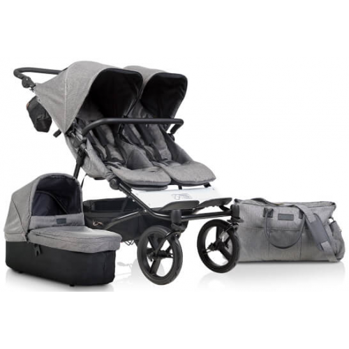 Mountain Buggy Duet Luxury with Carrycot Herringbone
